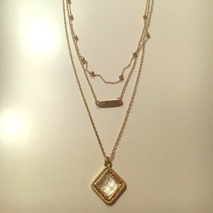 Jewelry - Layered Gold Brushed Necklace